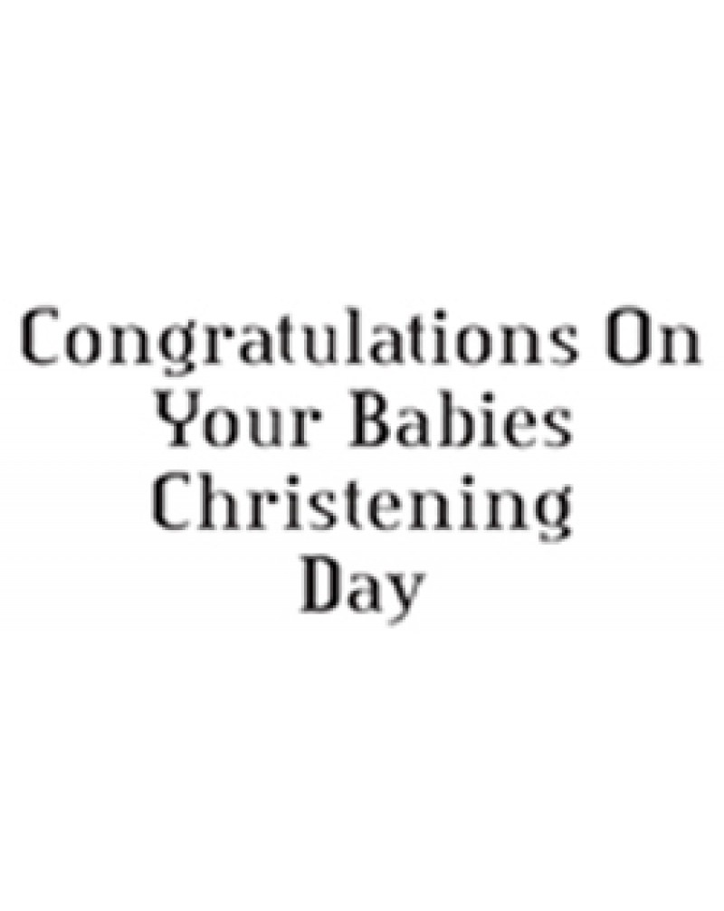 GRS2029 Congratulations On Your Babies Christening Day