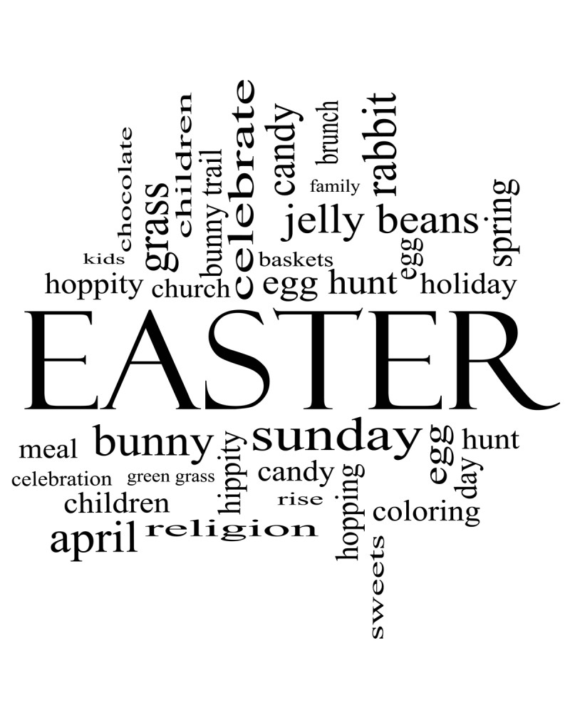 GRS2103 Easter Word Background