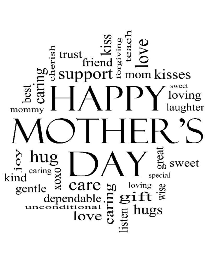 GRS2108 Mother's Day Word Background
