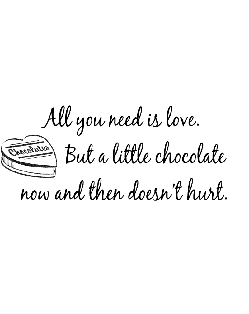GRS2113 All You Need Is Love But A Little Chocolate
