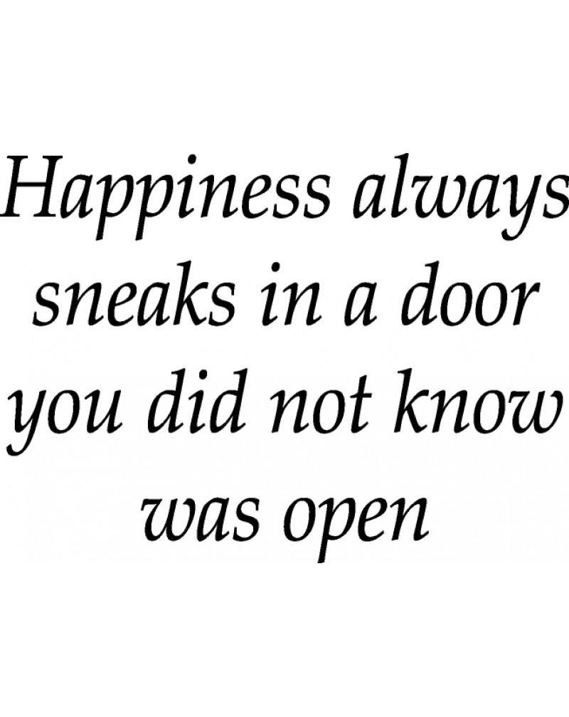 GRS2055 Happiness Always Sneaks In A Door