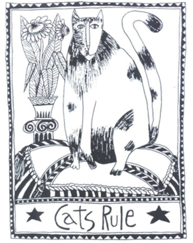 MM3022 Cats Rule Cling Stamp