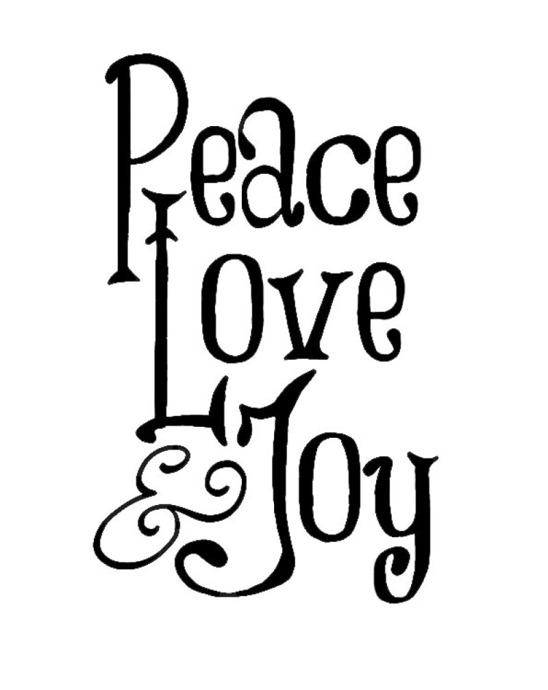 WW1038 Peace Love Joy